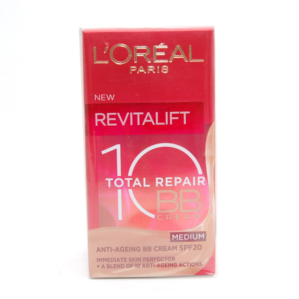 Loreal Revitalift Total Repair 10 Bb Cream Anti Ageing Medium 50ml